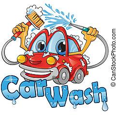 άμαξα αυτοκίνητο ακολουθία , πλένω
