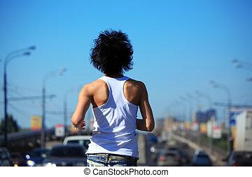 άμαξα αυτοκίνητο , βλέπω , κορίτσι , δρόμοs , ζώνη , αναστρέφω , νώτα