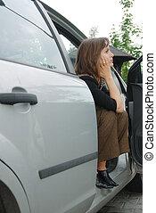 άμαξα αυτοκίνητο γυναίκα , άθυμος