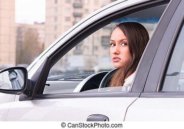 άμαξα αυτοκίνητο γυναίκα , νέος