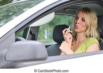 άμαξα αυτοκίνητο γυναίκα , νέος , maleup