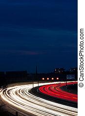 άμαξα αυτοκίνητο , εθνική οδόs , νύκτα