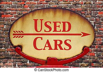 άμαξα αυτοκίνητο , μεταχειρισμένος , retro , σήμα