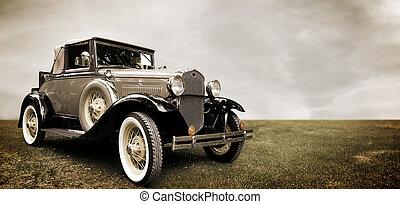 άμαξα αυτοκίνητο. , retro