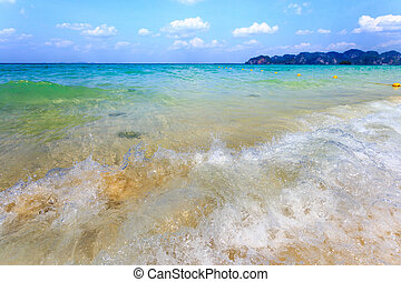 άμμος ακρογιαλιά , θάλασσα , κύμα