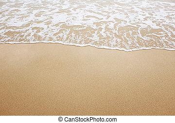 άμμος ακρογιαλιά , κύμα