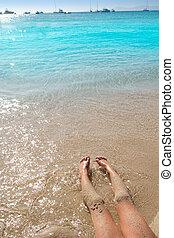 άμμοs , ακτή , κορίτσι , γάμπα , παραλία , παιδιά