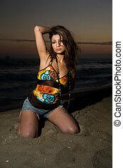 άμμοs , γυναίκα