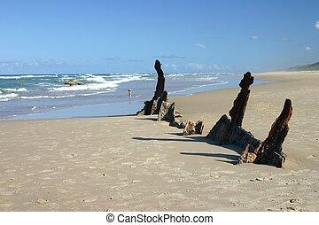 άμμοs , ναυάγιο