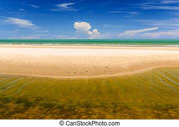 άμμοs , ουρανόs , θάλασσα