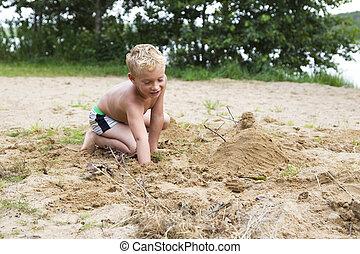 άμμοs , παίξιμο