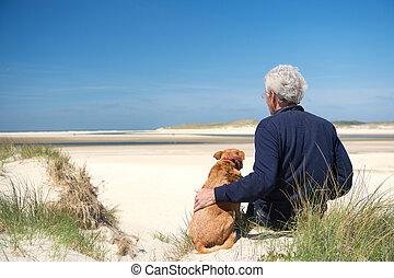 άμμοs , σκύλοs , αμμόλοφος , άντραs
