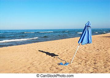 άμμοs , michigan , ομπρέλα , λίμνη , η π α