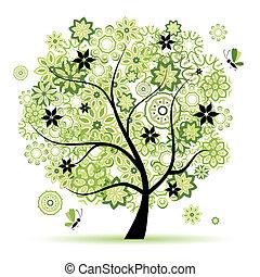 άνθινος , δέντρο , όμορφος