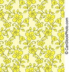 άνθινος , κίτρινο , seamless, φόντο