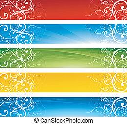 άνθινος , σημαίες , grunge