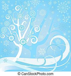 άνθινος , φόντο , xριστούγεννα , (vector)