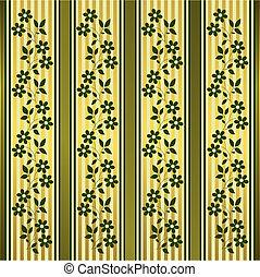 άνθινος , χρυσαφένιος , πράσινο , γαλόνι , φόντο