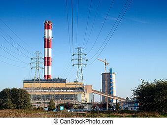 άνθρακας , εργοστάσιο ηλεκτρισμού