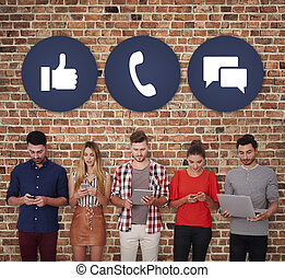 άνθρωποι , ανάμεσα , μέσα ενημέρωσης , κοινωνικός , ...