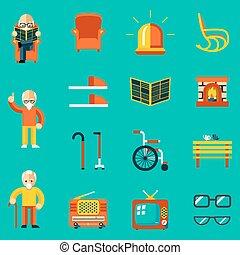 άνθρωποι , ηλικιωμένος , απεικόνιση
