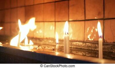 άνθρωποι , κερί , εκκλησία