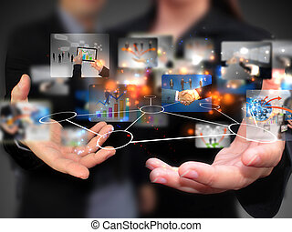 άνθρωποι , κράτημα , μέσα ενημέρωσης , κοινωνικός , επιχείρηση