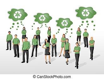 άνθρωποι , πράσινο , ρούχα