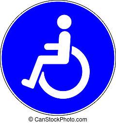 άνθρωποι , σήμα , επέτρεψα , μπλε , disable