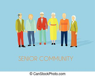 άνθρωποι , σύνολο , κοινότητα , αρχαιότερος , διαμέρισμα , αφίσα