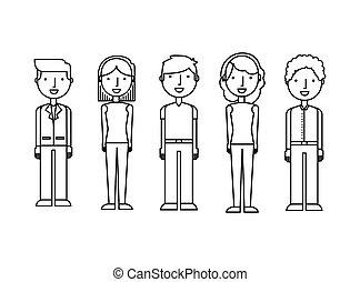 άνθρωποι , σύνολο , avatars, νέος