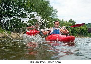 άνθρωποι , kayaking