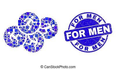 άνθρωπος , γραμματόσημο , μπλε , άντρεs , τρέξιμο , γρατσούνισα , μωσαικό