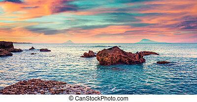 άνοιξη , ανατολή , μεσόγειος θάλασσα , γραφικός