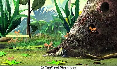άνοιξη , μυρμηγκοφωλιά