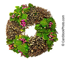 άνοιξη , φύλλα , στεφάνι , berrys