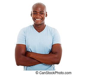 άντραs , αφρικάνικος αμερικάνικος , νέος