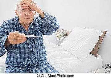 άντραs , γριά , πυρετόs