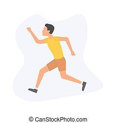 άντραs , εικόνα , τρέξιμο