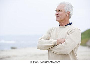 άντραs , εις άρθρο ακρογιαλιά , με , αγκαλιά ανάποδος