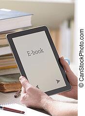 άντραs , μοντέρνος , κράτημα , ebook, αναγνώστης