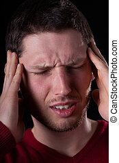 άντραs , τρομερός , πονοκέφαλοs