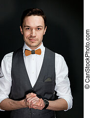 άντραs , bow-tie , κουστούμι