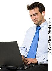 άντραs , laptop , εργαζόμενος