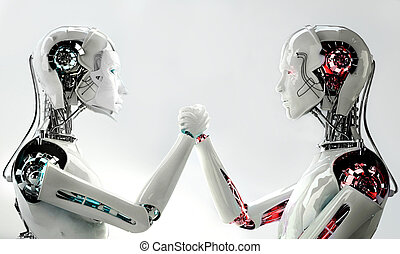 άντρεs , vs , ρομπότ , γυναίκεs