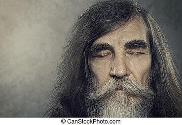 άποψη αδιαπέραστος , αγαπητέ μου ακόλουθοι , ηλικιωμένος , αντικρύζω ζωντανή περιγραφή προσώπου , αρχαιότερος , ηλικιωμένος , άντραs