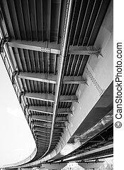 άποψη , δομή , από , κάτω από , ο , bridge.
