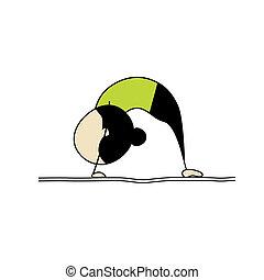 άσκηση , γυναίκα , γιόγκα