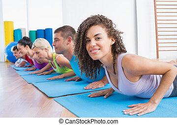 άσκηση , γυναίκα , φίλοι , push-ups