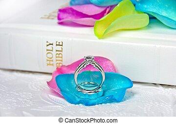 άσπρο , άγια γραφή , δακτυλίδι , γάμοs